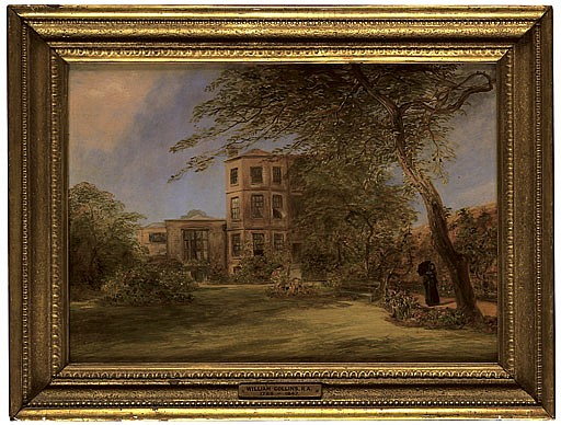View of Sir David Wilkie's house in Vicarage Place, Kensington, from the back garden
