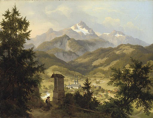 View of Berchtesgarden and the Watzmann, Bavaria