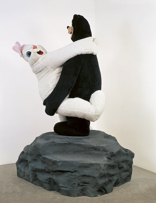 Bear and Rabbit on a Rock
