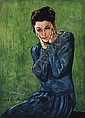 Femme sur Fond Vert, Francis Picabia, Click for value
