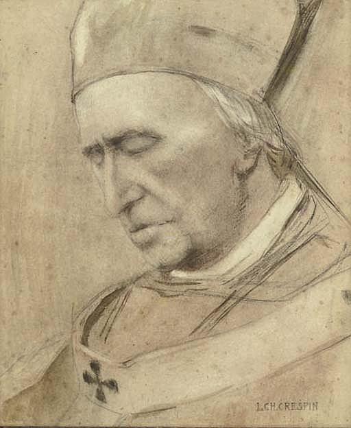 Portrait of Cardinal Désiré-Félicien-François-Joseph Mercier (1851-1926), bust-length