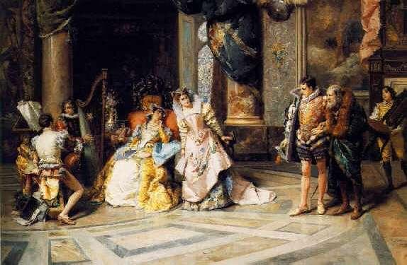 CESARE AUGUSTE DETTI (ITALIAN, 1847-1914) Galileo at Court