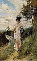 GIOVANNI BOLDINI (ITALIAN, 1842-1931) The Summer Stroll, Giovanni Boldini, Click for value
