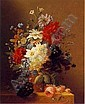 ARNOLDUS BLOEMERS(Footnote 1) (DUTCH, C. 1786-1844) Still Life with Assorted Flowers on a Ledge, Arnoldus Bloemers, Click for value
