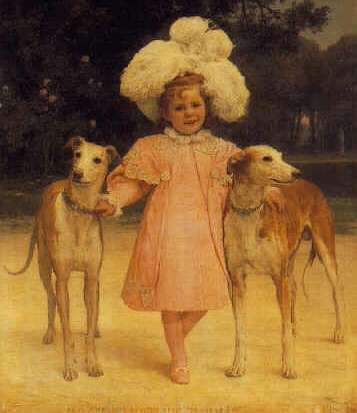 JAN VAN BEERS (BELGIAN, 1852-1927) Alice Antoinette De La Mar about the Age of Five