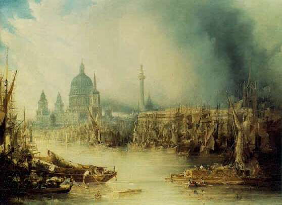 JOHN GENDALL(Footnote 1) (BRITISH, 1790-1865) A View of London with St. Paul's Cathedral from the Thames