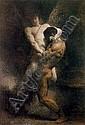 LEON JOSEPH FLORENTIN BONNAT (FRENCH, 1883-1922) La Lutte de Jacob