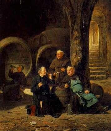 ADOLF HUMBORG (AUSTRIAN, 1847-1913) The Wine Connoisseurs