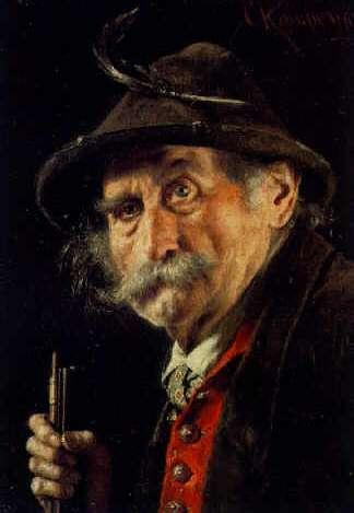 CARL KRONBERGER (AUSTRIAN, 1841-1921) Portrait of a Tyrolean Man