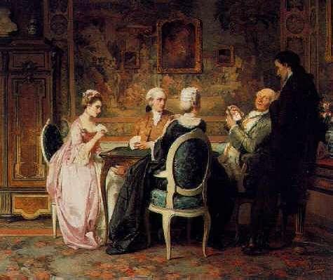 CARL HEINRICH HOFF (GERMAN, 1838-1890) The Card Game