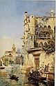 JOSE GALLEGOS Y ARNOSA (SPANISH, 1859-1917) A Venetian Canal Scene, José Gallegos