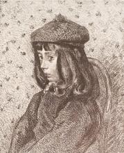 Camille Pissarro, Lithograph: Portrait De F.C.P
