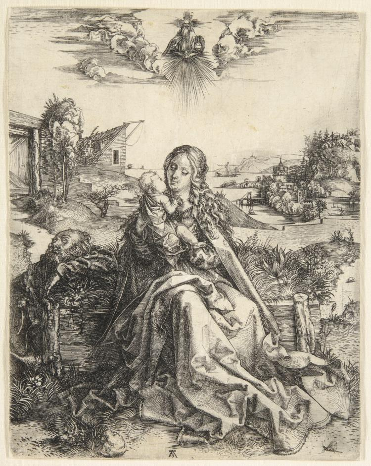 Albrecht Dürer, Engraving: The Virgin with the Dragonfly