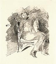 James Abbott McNeill Whistler, Lithograph: Firelight: Joseph Pennell, No. 1