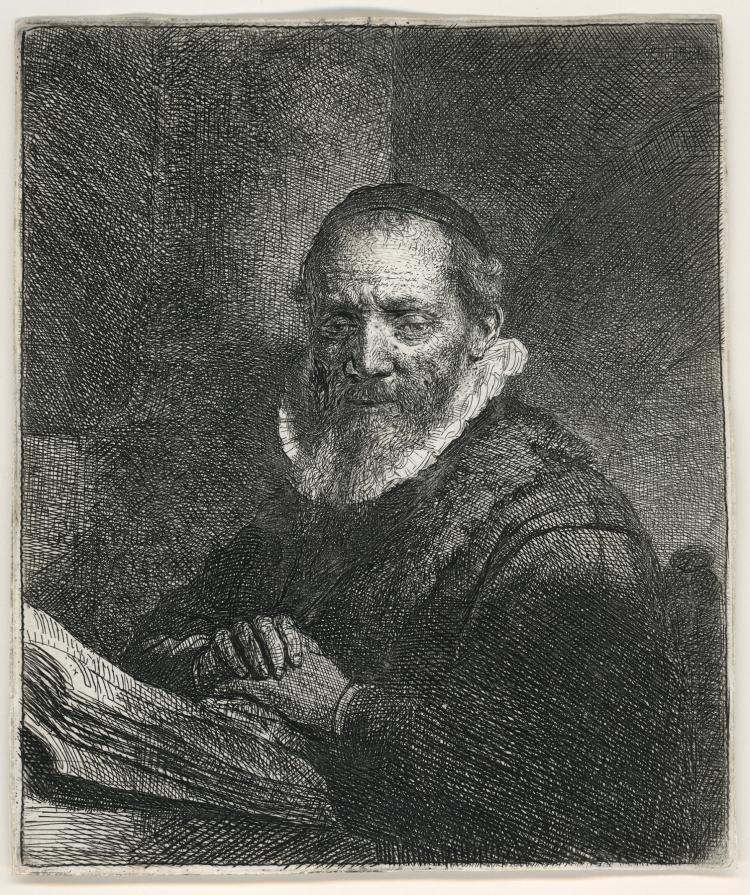 Rembrandt Van Rijn, Etching: JAN CORNELIS SYLVIUS