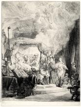 Rembrandt Van Rijn, Etching: THE DEATH OF THE VIRGIN