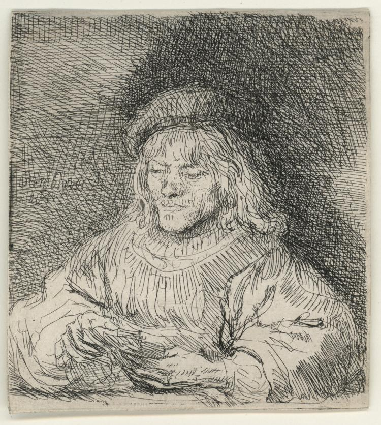 Rembrandt Van Rijn, Etching: The Card Player