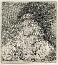 Rembrandt Van Rijn, Etching: The Card Player