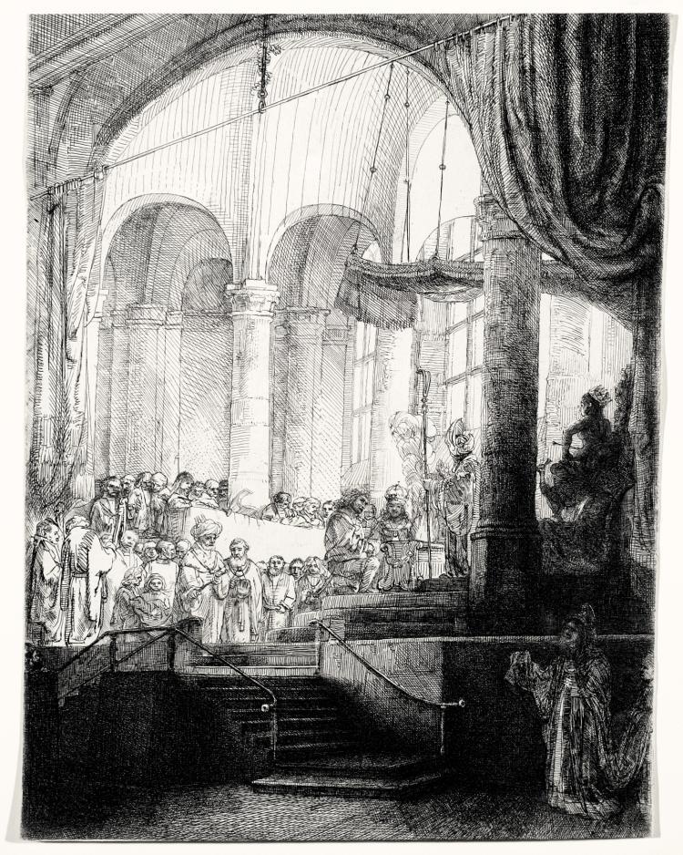 Rembrandt Van Rijn, Etching: Medea; The Marriage of Jason and Creusa