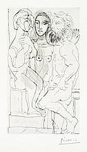 Pablo Picasso, Drypoint: Sculpteur, Modele et Sculpture: Femme Assise