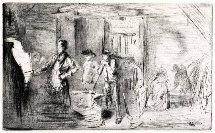 James Abbott McNeill Whistler, Etching: The Forge