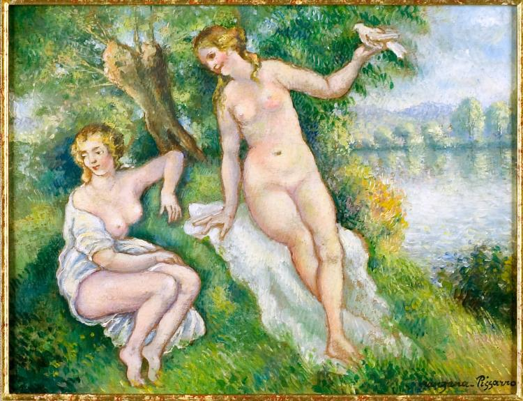 Georges-Henri [Manzana] Pissarro, Oil Painting: Les Baigneuses