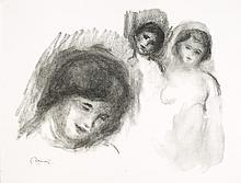 Pierre-Auguste Renoir, Lithograph: La Pierre aux Trois Croquis