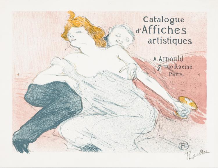 Henri de Toulouse-Lautrec, Lithograph: Débauche (deuxième planche)