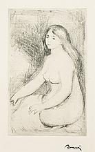 Pierre-Auguste Renoir, Etching: Baigneuse Assise