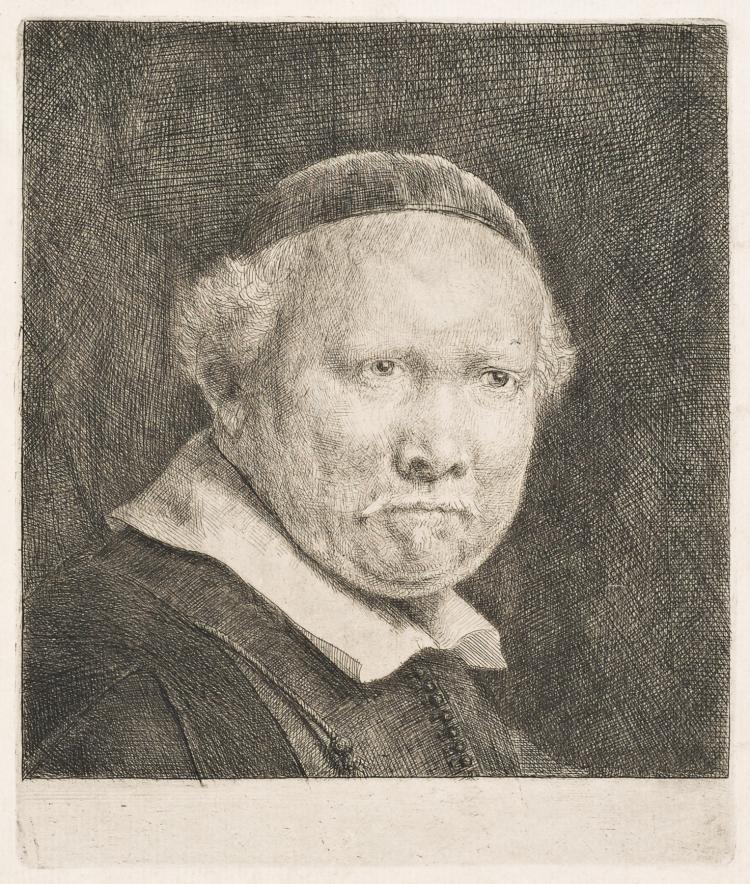 Rembrandt Van Rijn, Etching & Drypoint: Lieven Willemsz Van Coppenol, Writing-Master