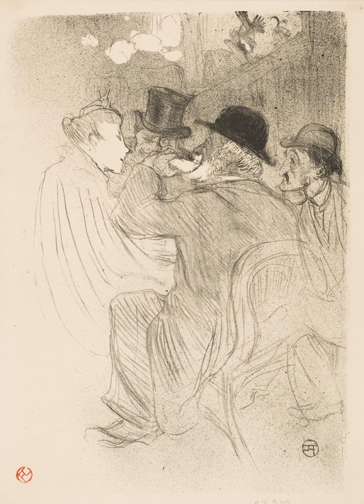Henri de Toulouse-Lautrec, Lithograph: Au Moulin Rouge, Un Rude! ... Un Vrai Rude!