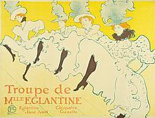 Henri de Toulouse-Lautrec, Lithograph: Troupe De Mlle. Eglantine