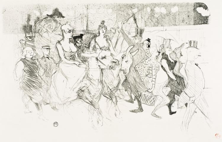 Henri de Toulouse-Lautrec, Lithograph: Une Redoute Au Moulin Rouge