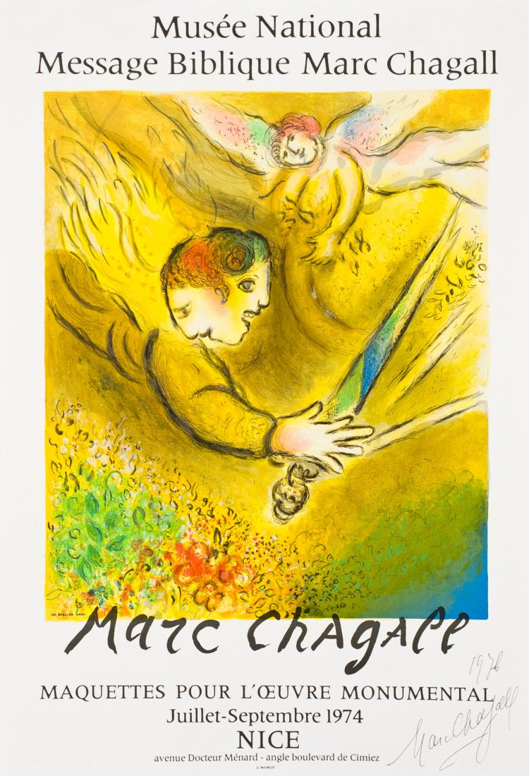 Marc Chagall, Lithograph: The Angel of Judgement
