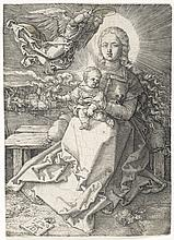 Albrecht Dürer, Engraving: MADONNA CROWNED BY ONE ANGEL