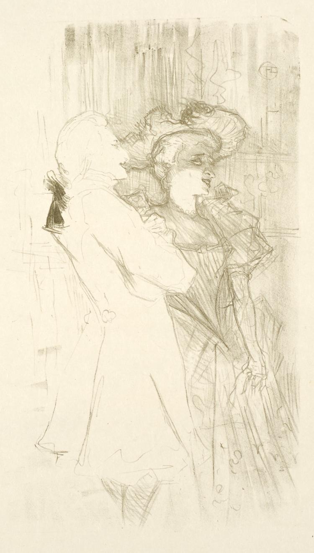 Henri de Toulouse-Lautrec, Lithograph: LENDER ET AUGUEZ, DANS LA CHANSON DE FORTUNIO