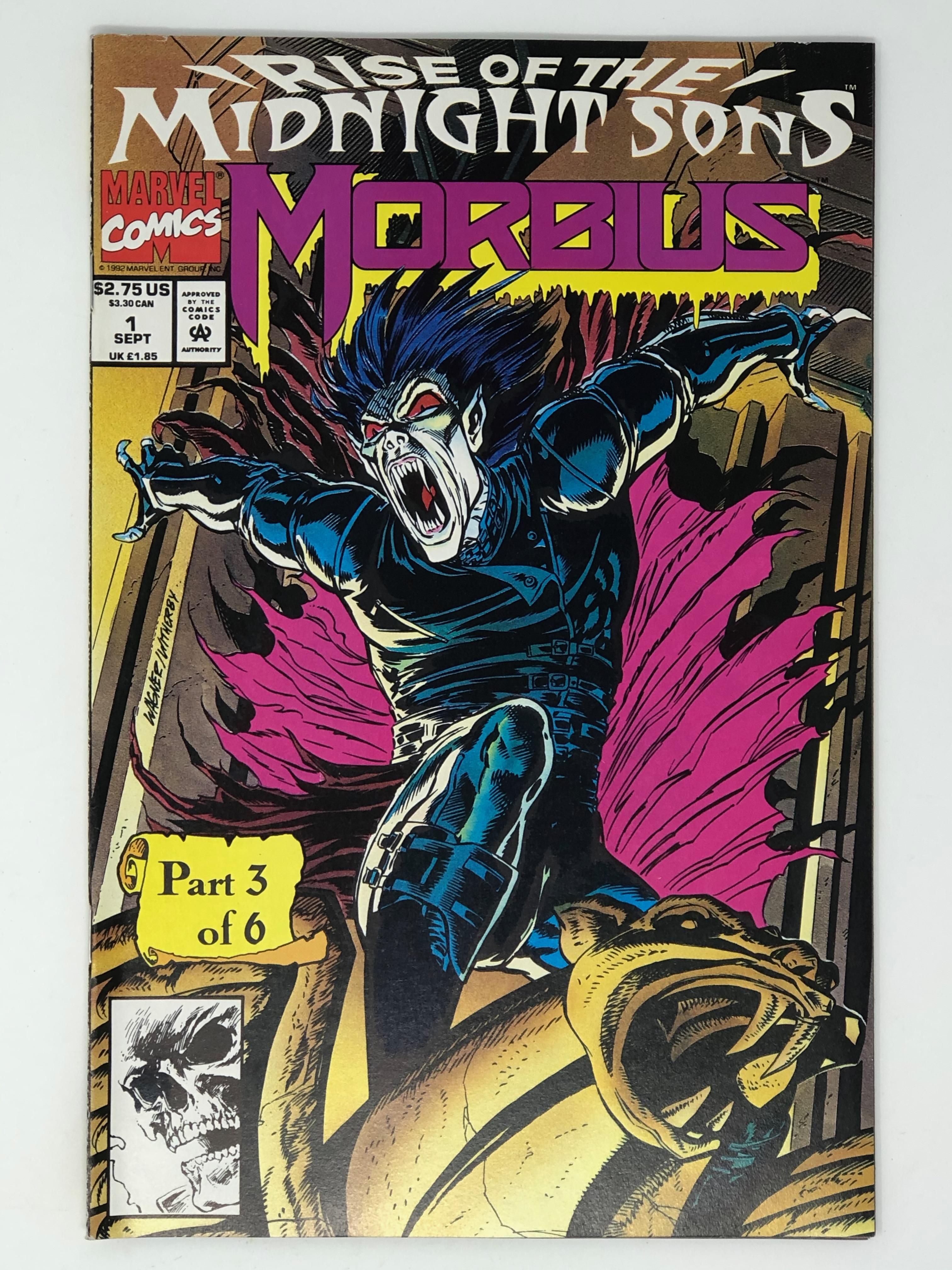MARVEL, MORBIUS rise of the midnight sons part 3 of 6 1
