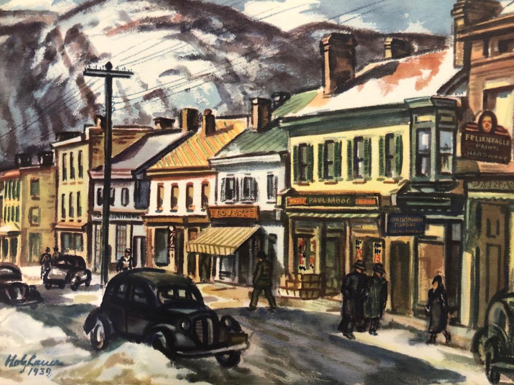 Holzhauer Vintage Lithograph from the 1939 New York