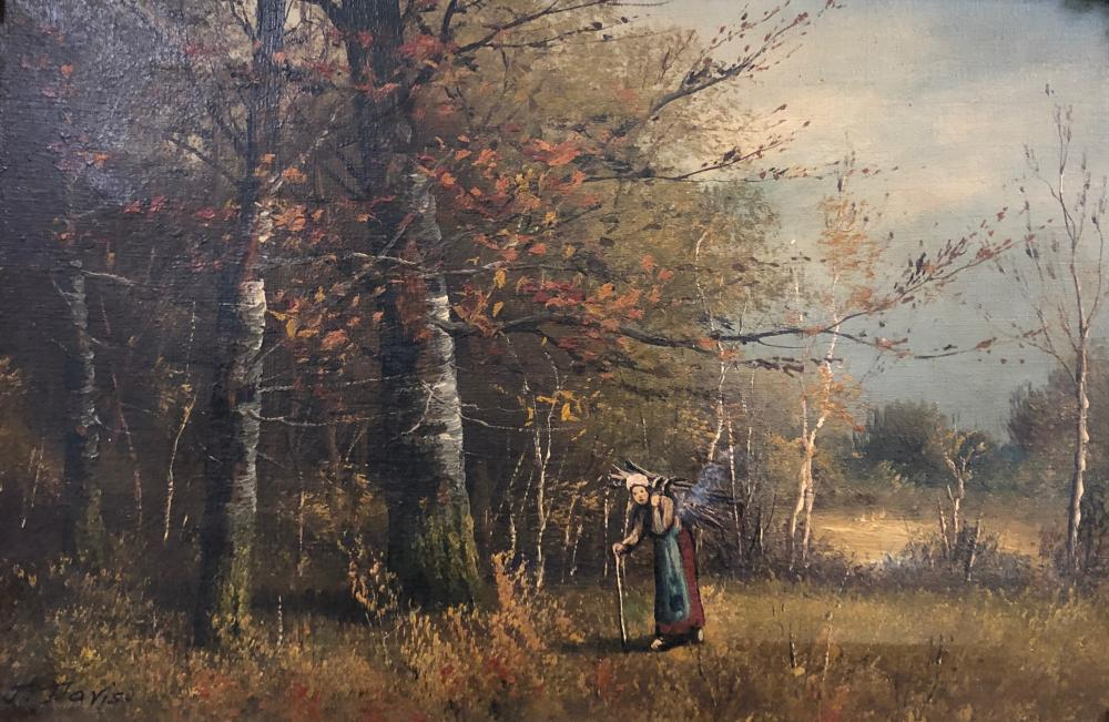 John Parker Davis, Pastoral Landscape Oil