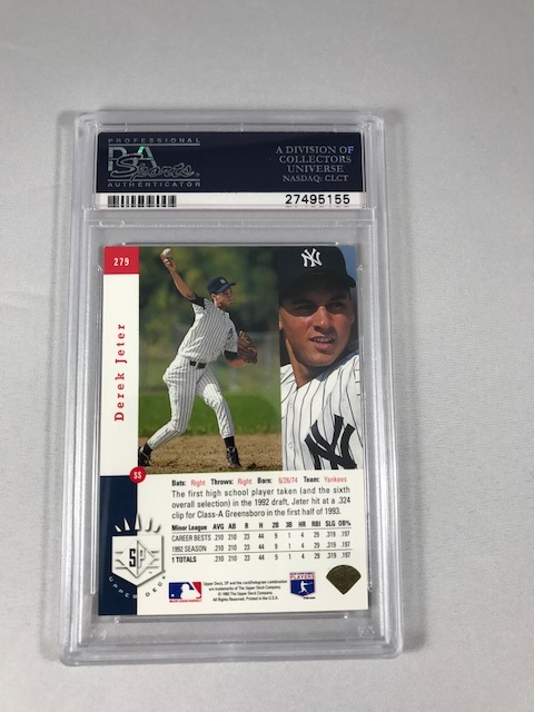 1993 Sp Foil Derek Jeter Rookie Card Psa 7 One Of The Hott
