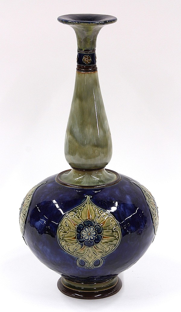 Royal Doulton vase, executed in the Arts and Crafts taste