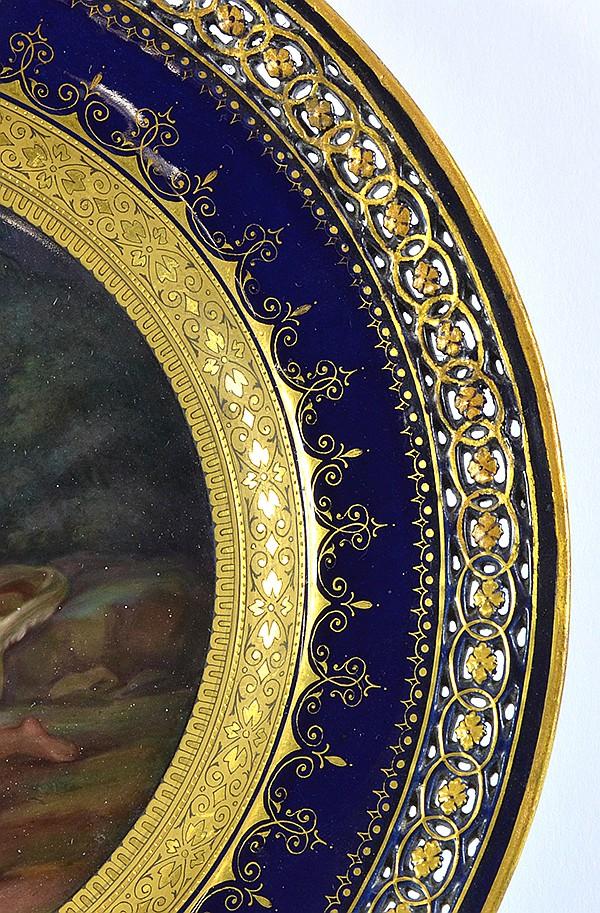 Meissen scenic plate, 19th century