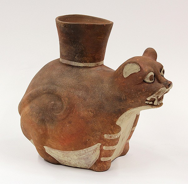 Mochica culture, North Coast Peru, AD 400, drinking vessel