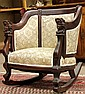 Late Victorian carved mahogany rocking chair circa 1890