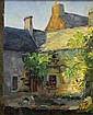 Painting,  Abel Warshawsky, French Courtyard