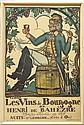 Lithographic poster, Guy Anroux, Les Vins de Bourgogne