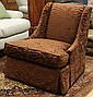 Hickory and White fireside chair