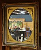 American Victorian giltwood carved frame, New York