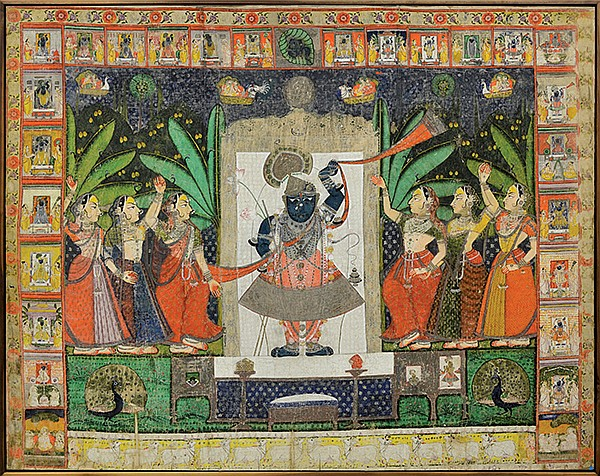East Indian Large Pichwai Painting Shrinathji