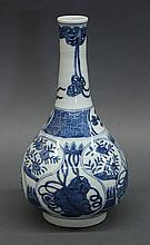 Chinese Blue-and-White Stick Neck Vase